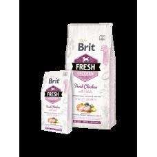 Brit Fresh Puppy корм для щенков всех пород с курицей