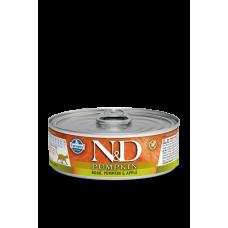 Farmina N&D беззерновой влажный корм кошек с тыквой, кабаном и яблоком 80 гр