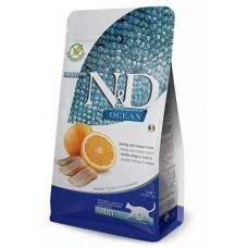 Farmina N&D Cat беззерновой корм для взрослых кошек рыба с апельсином