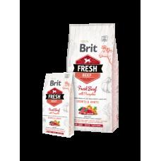 Brit Fresh Puppy корм для щенков крупных пород  с говядиной и тыквой