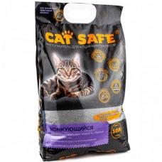 Cat safe наполнитель комкующийся для кошек с углем 10 л