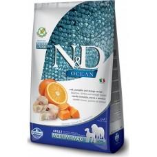 Farmina N&D Dog GF низкозерновой корм для взрослых собак мелких пород, треска, спельта, апельсин