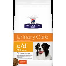 Hills Prescription Diet c d Multicare Canine диетический корм для собак при мочекаменной болезни/струвитах