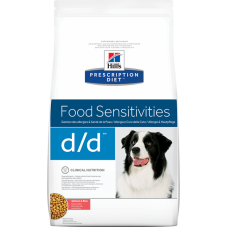 HILLS  Prescription Diet d d Salmon диетический корм для собак аллергии/панкреатите с лососем