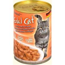 Edel Cat кусочки 3 вида мяса птицы консервы для кошек