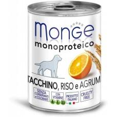 Monge Dog Monoprotein Fruits консервы для собак паштет из индейки с цитрусовыми 400г