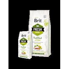 Brit Fresh корм для активных собак утка с пшеном