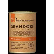 GRANDORF Консервы для собак Гусь и индейка 400 гр