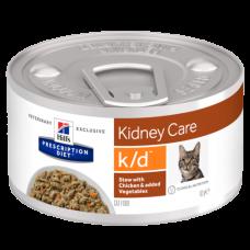Hill's Prescription Diet k/d Рагу для кошек с курицей и овощами 82 гр