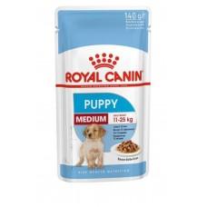Royal Canin Medium Puppy влажный корм для щенков соус 10*140 гр
